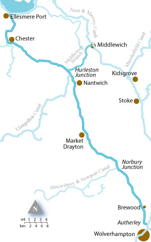 Narrowboat Holiday Hire On The Shropshire Union Canal With